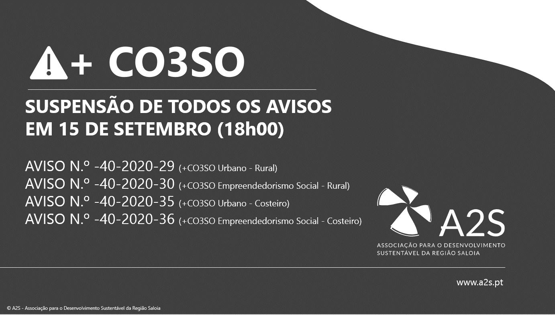 + CO3SO – Todos Os Avisos Suspensos Em 15 De Setembro (18h00)